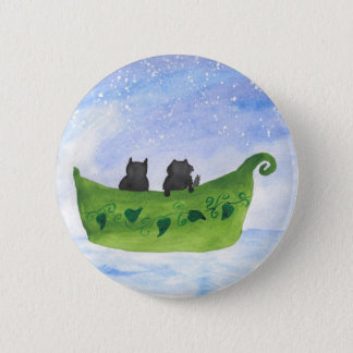 The Owl and The Pussycat 6 Cm Round Badge