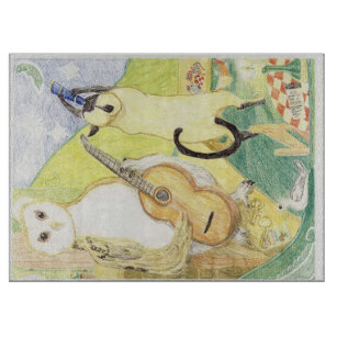 The Owl And The PussyCat And The Pea Green Moon Cutting Board