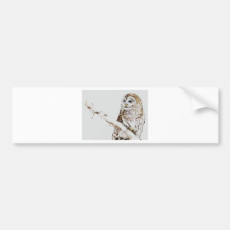 the owl came bumper stickers