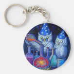 The Owl Chemists Basic Round Button Key Ring
