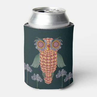 The Owl of wisdom and flowers Can Cooler