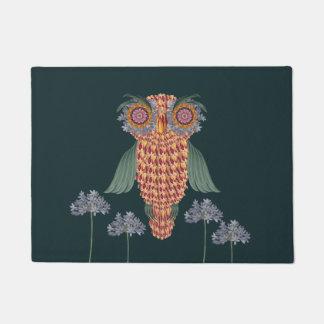 The Owl of wisdom and flowers Doormat