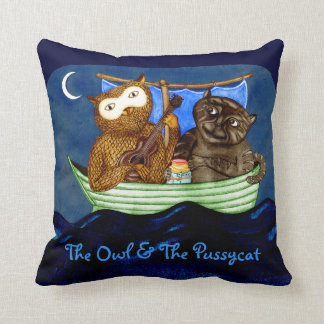 The Owl & The Pussycat Throw Pillow