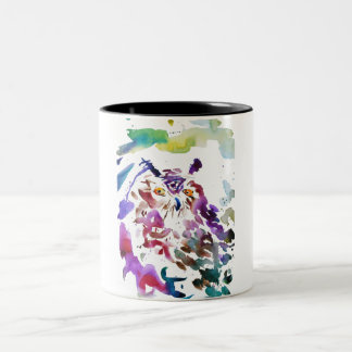 ''The owl'' Two-Tone Coffee Mug