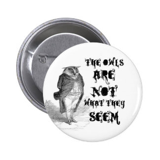 The owls are NOT what they seem. 6 Cm Round Badge