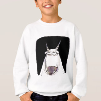 the ox is looking expressionless funny cartoon sweatshirt