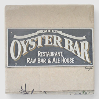 The Oyster Bar, Savannah, Georgia Marble Coaster