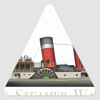 The Paddle Steamer Waverley by Tony Fernandes Triangle Sticker