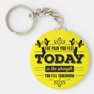 The Pain You Feel Today Is The Strength You Feel Basic Round Button Key Ring