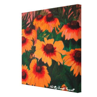 The Painted Daisies Canvas Print