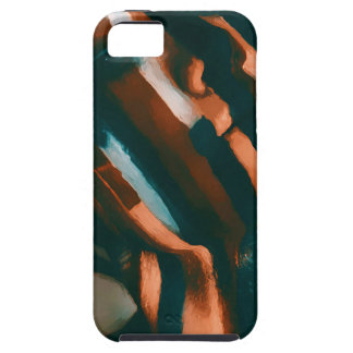 The Painted Lady of the Tigers and Waves Case For The iPhone 5