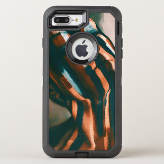 The Painted Lady of the Tigers and Waves OtterBox Defender iPhone 8 Plus/7 Plus Case