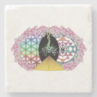 The Painted Pyramid Logo Stone Beverage Coaster
