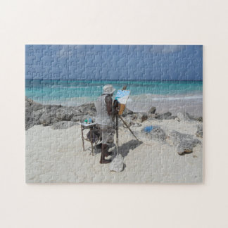The Painter on the Beach Barbados. Jigsaw Puzzle