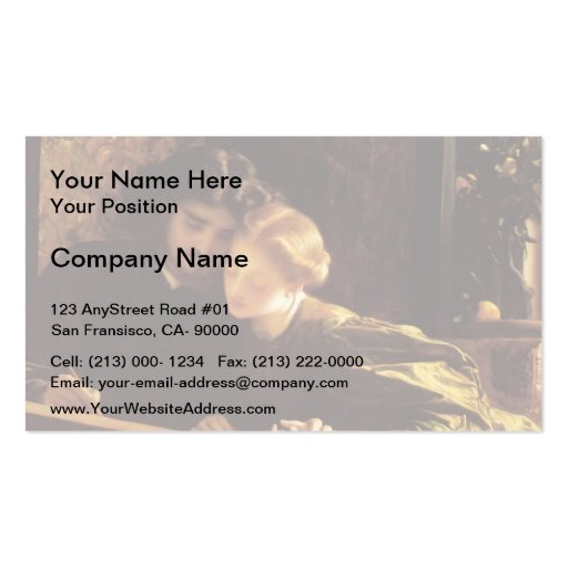 The Painter's Honeymoon by Frederic Leighton Business Card Templates