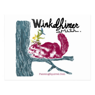 The Painting Squirrel,Winkelhimer Smith Postcard