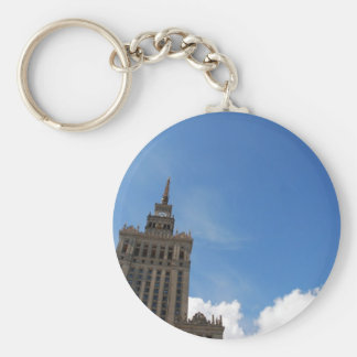 The Palace of Culture and Science Basic Round Button Key Ring