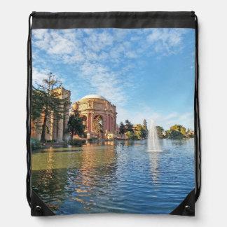 The Palace of Fine Arts California Drawstring Bag