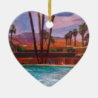 The Palm Springs Pool Ceramic Ornament