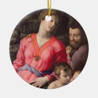 The Panciatichi Holy Family, c.1530-32 (oil on pan Round Ceramic Decoration