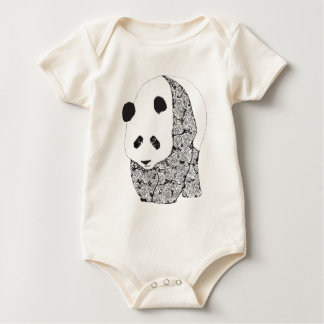 The Panda With The Roses Baby Bodysuit