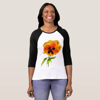 'The Pansy Party' on a 3/4 Sleeve T-shirt (II)