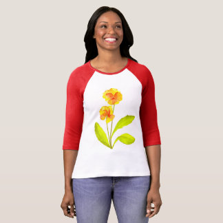 'The Pansy Party' on a 3/4 Sleeve T-shirt (III)