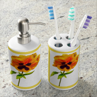 'The Pansy Party' on a Bathroom Set (II)