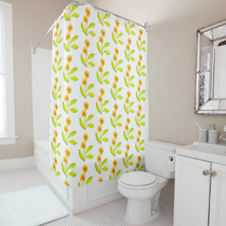 'The Pansy Party' on a Shower Curtain