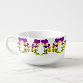 'The Pansy Party' on a Soup Mug (II)