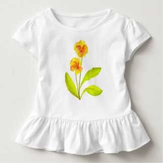 'The Pansy Party' on a Toddler Ruffle Tee (IV)