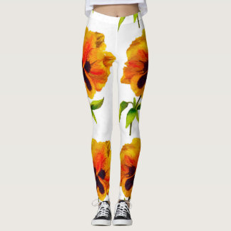 'The Pansy Party' on Leggings (V)