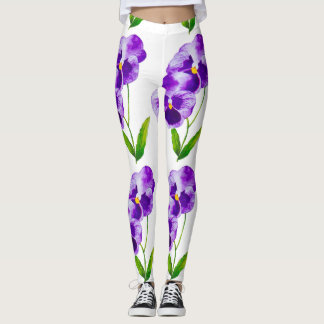'The Pansy Party' on Leggings (VII)