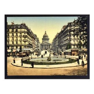 The Pantheon and the rue Soufflot, Paris, France c Postcard