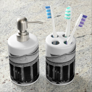 The Pantheon in Rome, Italy Soap Dispenser And Toothbrush Holder
