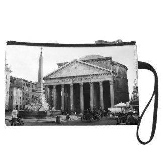 The Pantheon in Rome, Italy Suede Wristlet