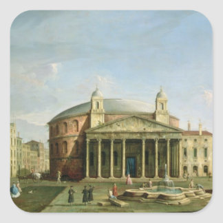 The Pantheon in Rome Square Sticker
