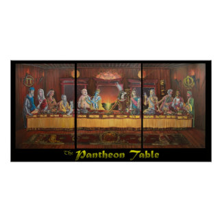 The Pantheon Table Poster