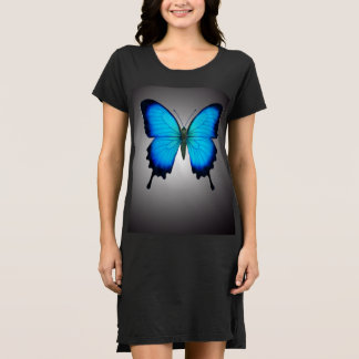 The Papilio Ulysses Butterfly Shirt Dress