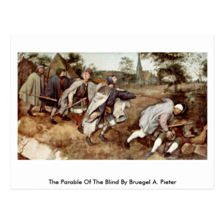 The Parable Of The Blind By Bruegel A. Pieter Postcard