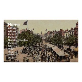 The parade (i.e., promenade), Market Day, Tannton, Business Card
