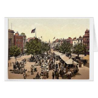 The parade (i.e., promenade), Market Day, Tannton, Cards