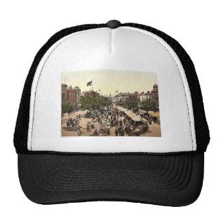The parade (i.e., promenade), Market Day, Tannton, Mesh Hat