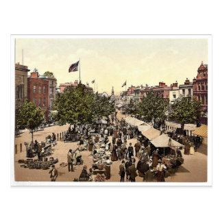 The parade (i.e., promenade), Market Day, Tannton, Postcard