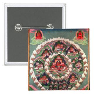 The Paradise of Shambhala, Tibetan Banner 15 Cm Square Badge