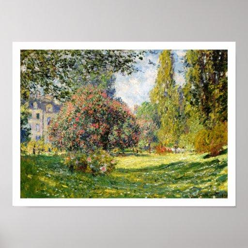 The Parc Monceau by Claude Monet Posters