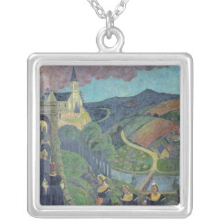 The Pardon of Notre-Dame-des-Portes at Silver Plated Necklace