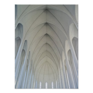 The parish church and landmarks of Reykjavik Poster