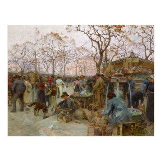 The Parisian Bird Market Postcard
