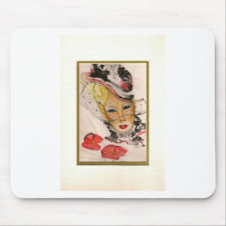 The Parisian one with the poppies Mouse Pad